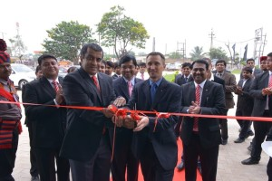 L to R Mohan Mariwala, Managing Director, Auto Hangar Raipur  and Boris Fitz, Vice President, Sales and Network Development, Mercedes-Benz at the inauguration o