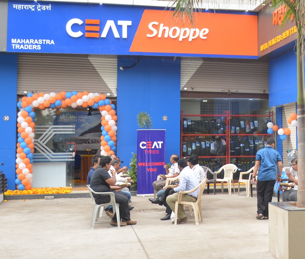 The new CEAT Shoppe in Kaveri Nagar, Wakad in Pune