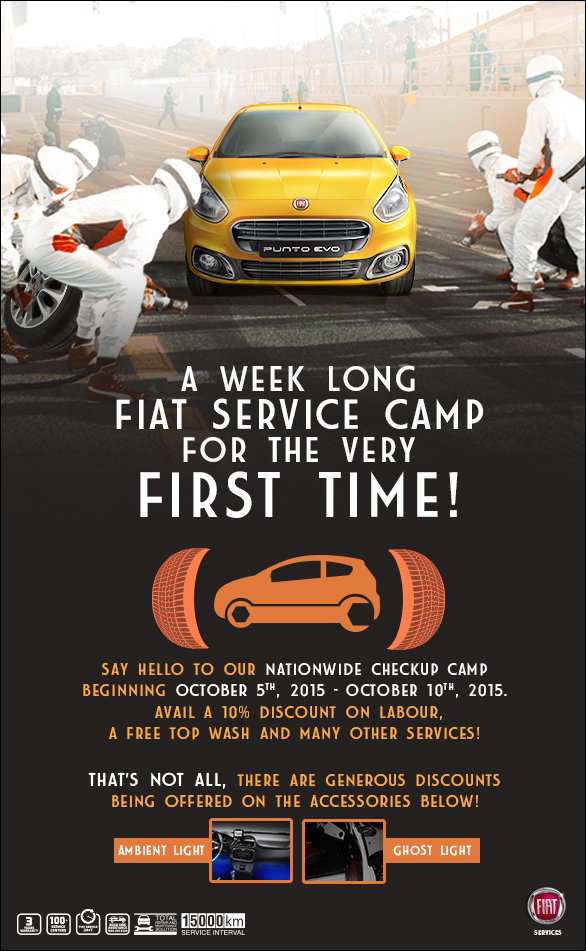 FIAT Service check-up camp creative