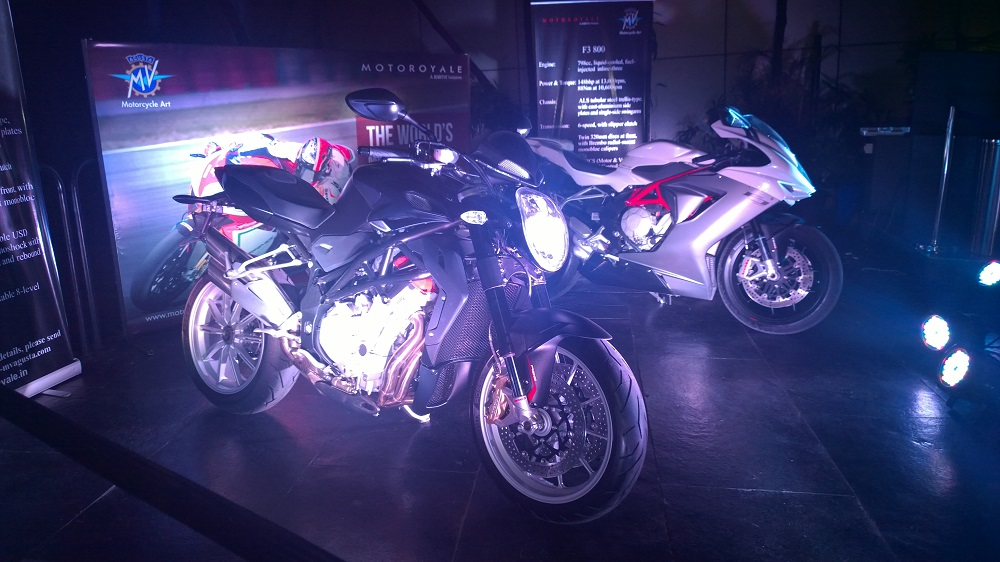 MV Agusta Brutale 1090 and F3 800 unveiled at blueFROG, Pune