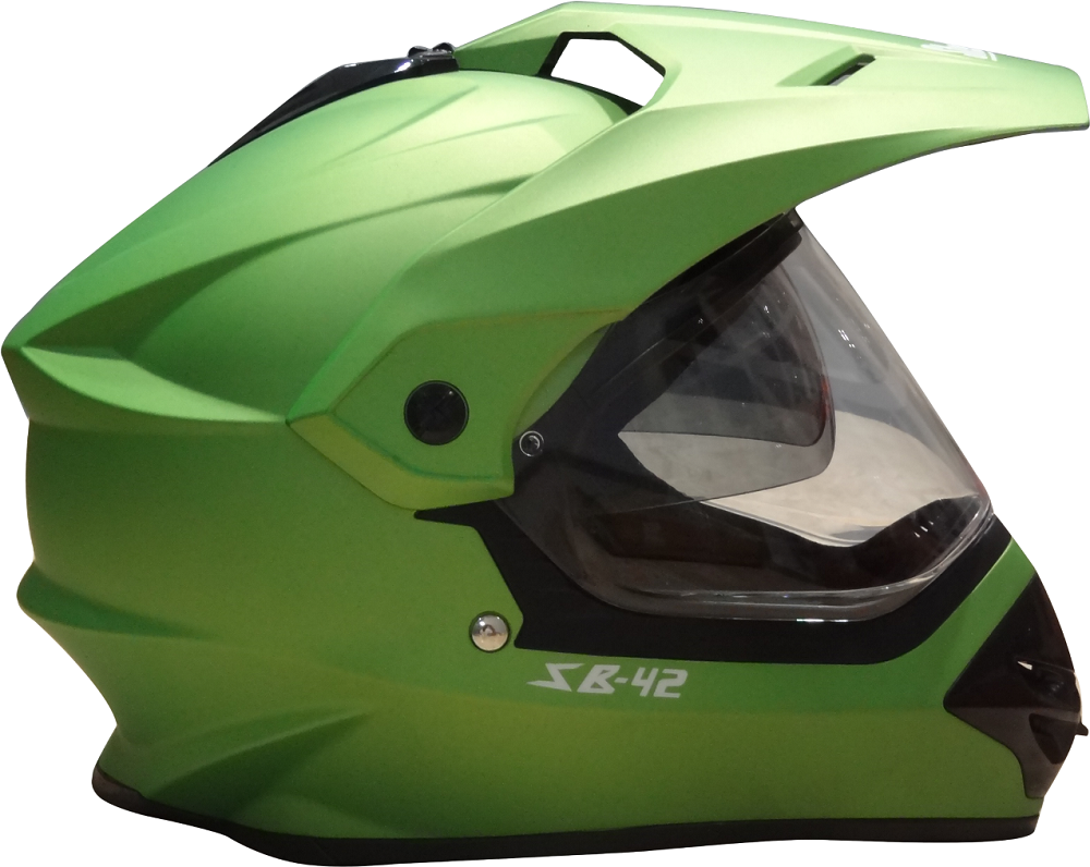 Steebird MotoCross Helmet Green Bang