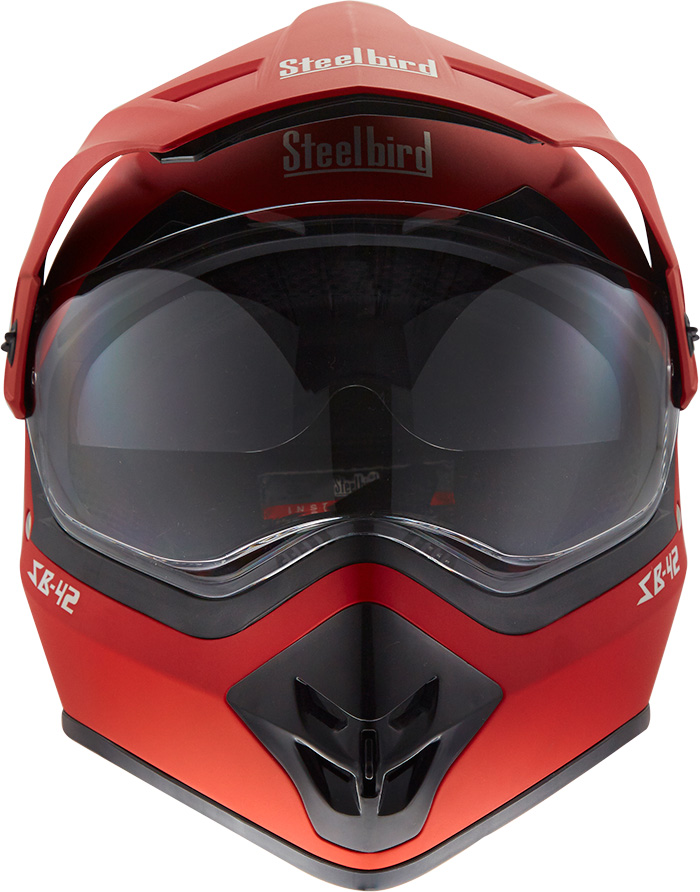 Steebird MotoCross Helmet Red Bang