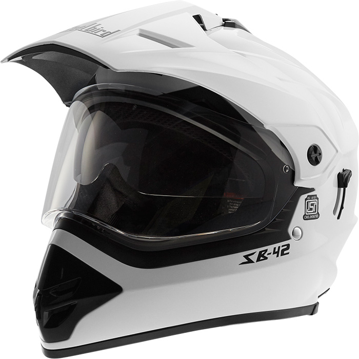 Steebird MotoCross Helmet White Bang 2