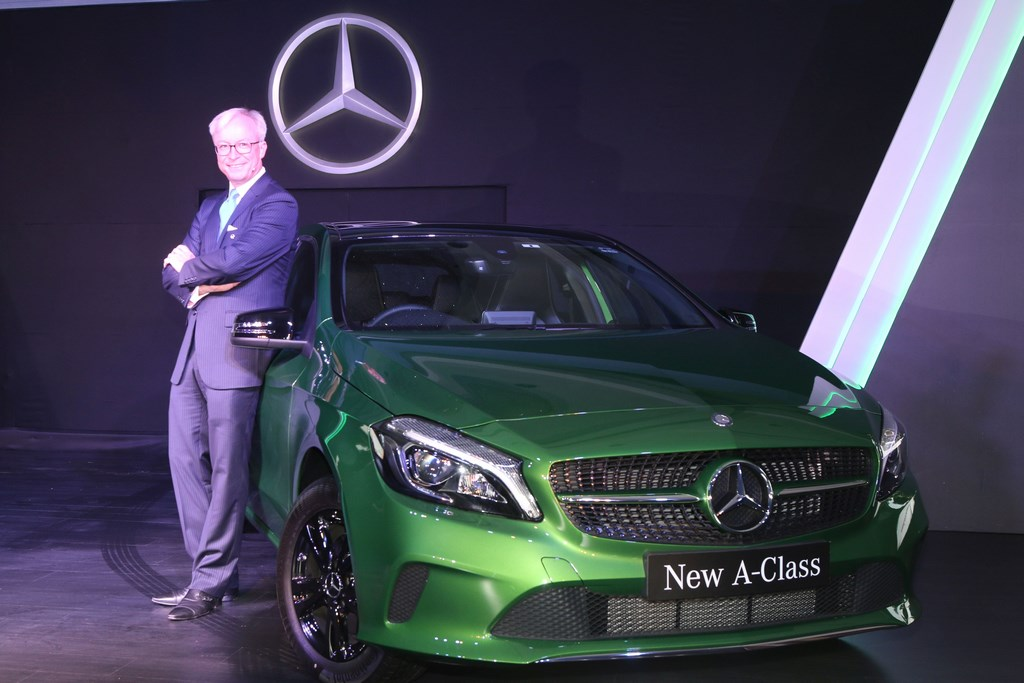 Mr. Roland Folger,Managing Director & CEO, Mercedes-Benz India with the new A-Class