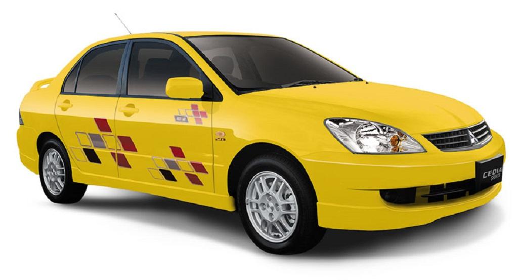 2400 Mitsubishi Cedia Yellow-car