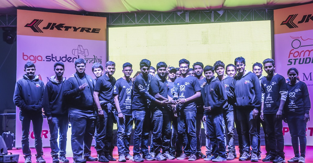 JK Tyre Baja Student India 2016 were Forza Racing - Sinhgad Academy of Engineering, Pune after the announcement
