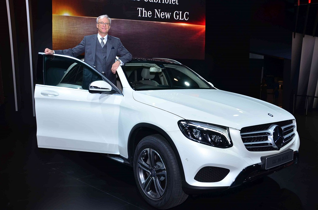 Roland Folger MD CEO Mercedes-Benz India at the showcase of GLC at the Auto Expo 2016