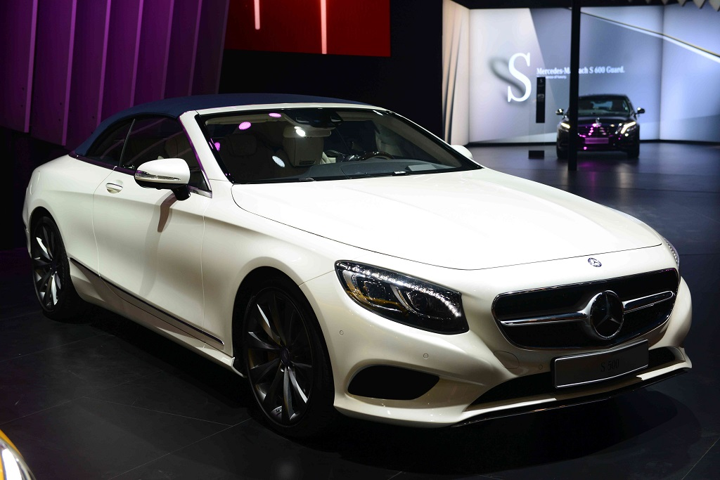 S Class Cabriolet showcased at Auto Expo 2016 in New Delhi