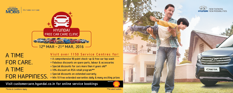 Hyundai Motor India Ltd. announces 21st Free Car Care Clinic