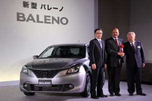 Suzuki launches 'Made in India' Baleno in Japan. At the launch (L to R) Mr. T Suzuki, President & COO, SMC, H.E. Mr. Sujan R Chinoy_Edited