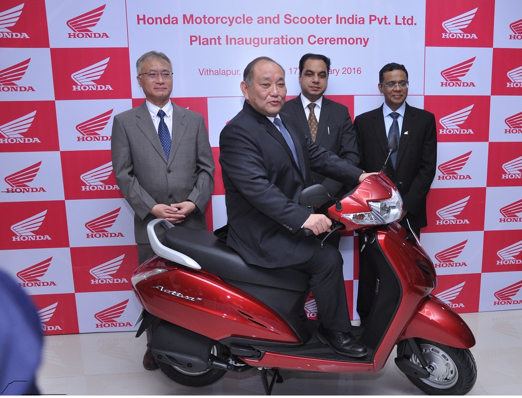 Gas Partners With Honda Motorcycle And Scooter India Pvt Ltd Motor Scooters Inaugurates Its 4th Two Wheeler Plant In