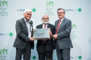 Kishor Patil wins ITF Promising Innovation in Transport Award 2016