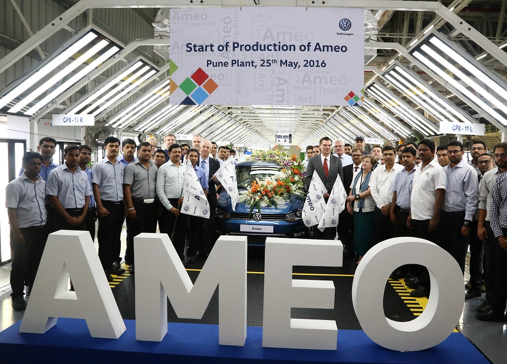 Volkswagen Ameo rolled out of Volkswagen Pune Plant