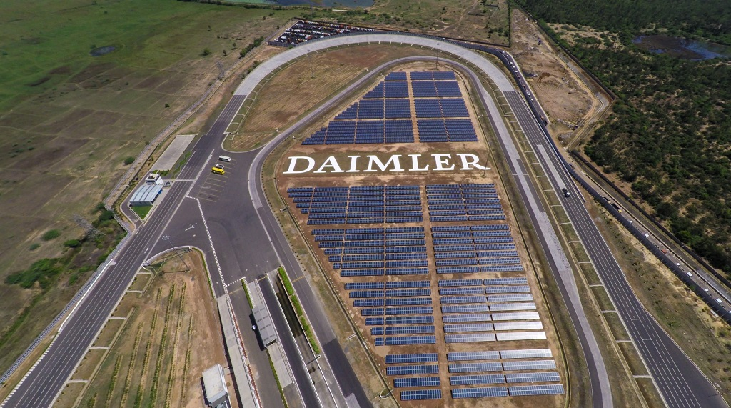 With the completion of a major addition to Daimler India Commercial Vehicles plant's existing photovoltaic installations, the overall technical capacity has increased from 0.8 to 3.3 Megawatts.