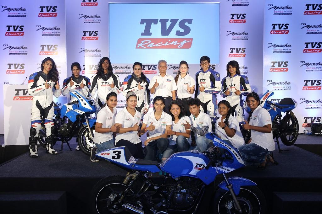 TVS Racing supports Alisha Abdullah Racing Academy for Women