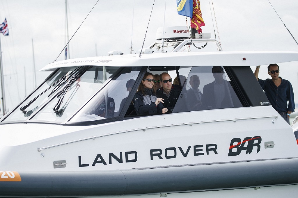 Duke and Duchess of Cambridge visit to Land Rover BAR