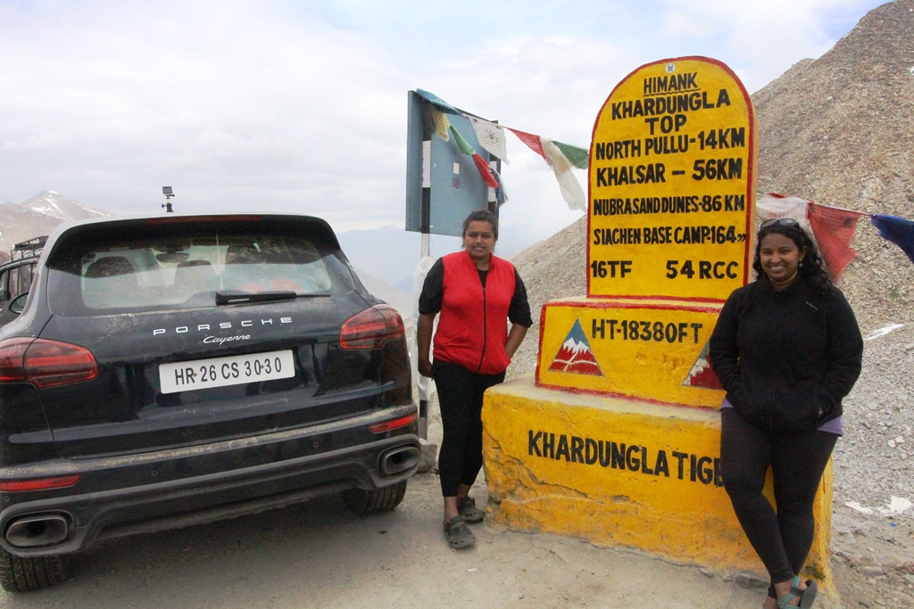 At Khardungla top - on the world's highest motorable road