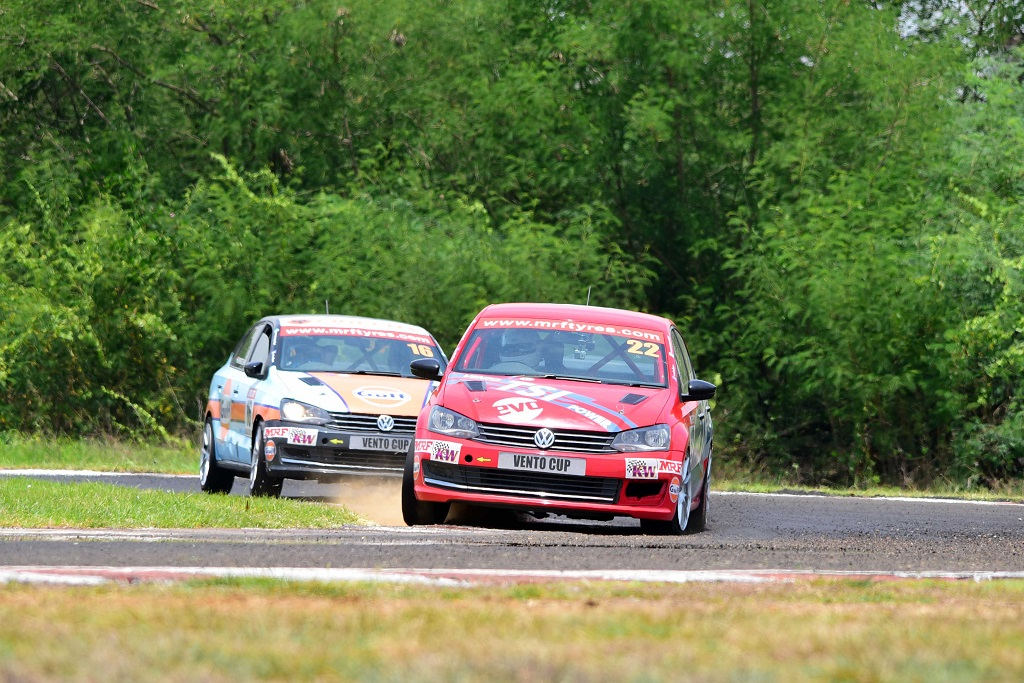 Guest driver Sirish Chandran drove an excellent race to clinch podium in...