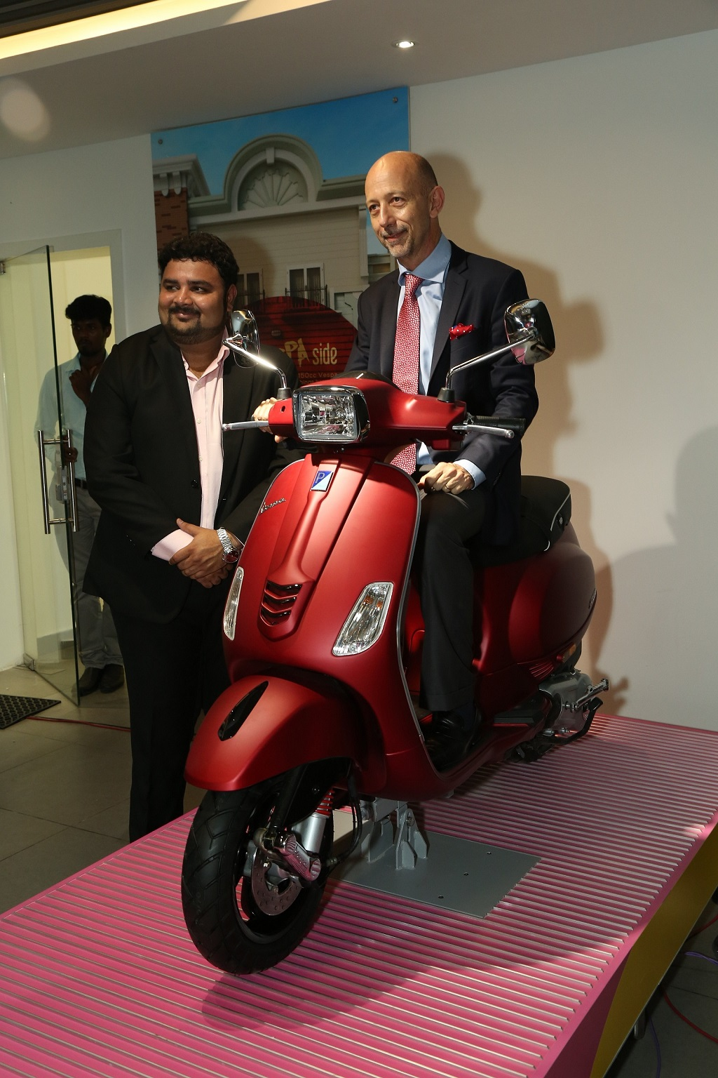 (L to R) Satish Mehta (CEO Motoplex Chennai) with Mr. Stefano Pelle (MD ...