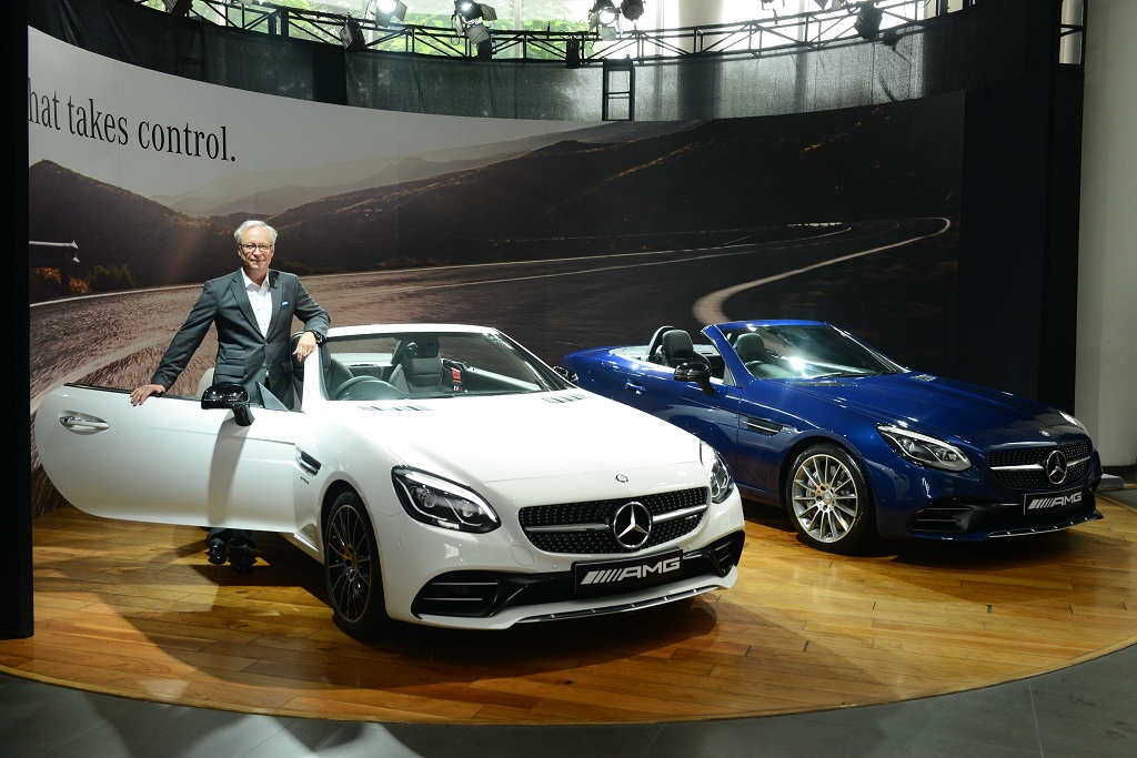 Mr. Roland Folger, Managing Director & CEO, Mercedes-Benz India at the launch of Mercedes-AMG SLC 43 in Delhi- 2