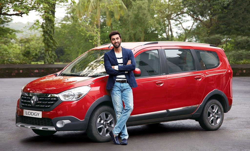 Ranbir Kapoor with Renault Lodgy World Edition