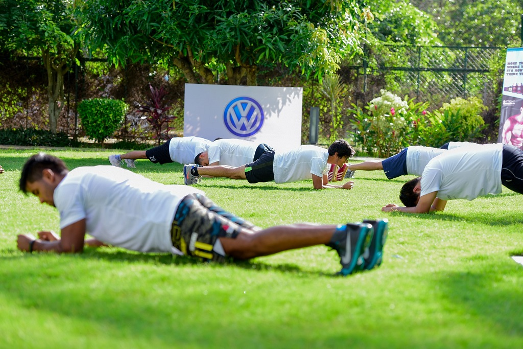 Vento Cup 2016 drivers in one of many fitness sessions in Bangalore