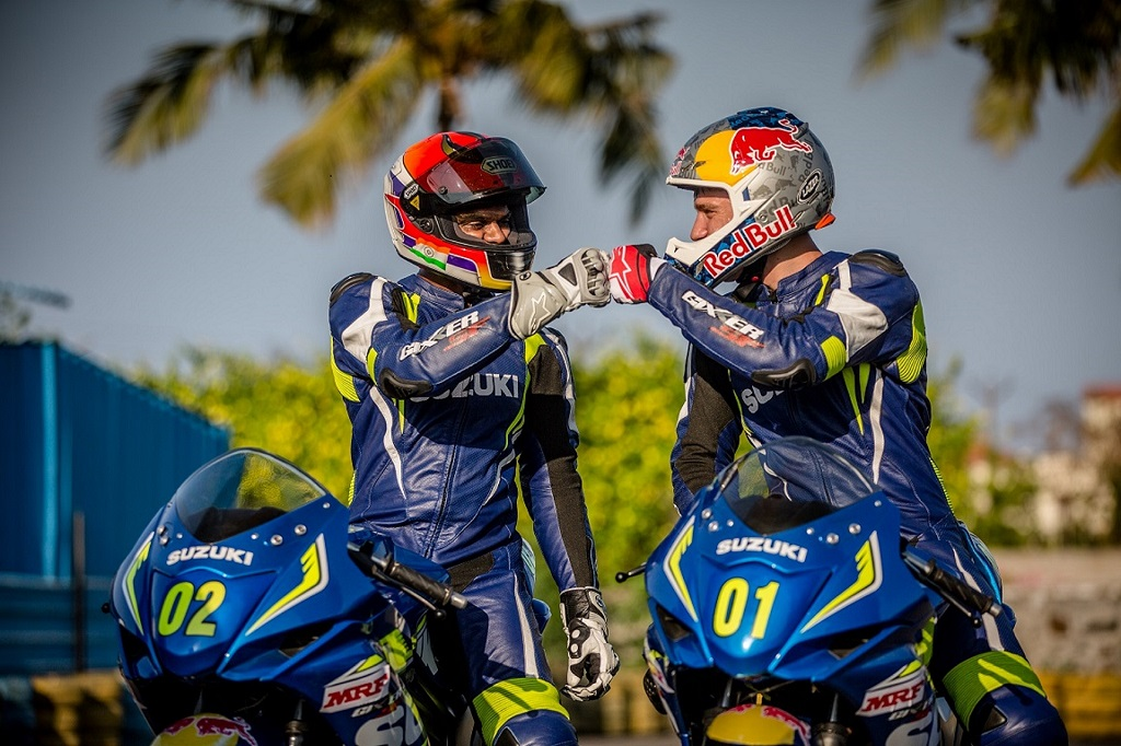 Aras Gibieza and Rajini Krishnan at the Red Bull Road to Rookies Cup