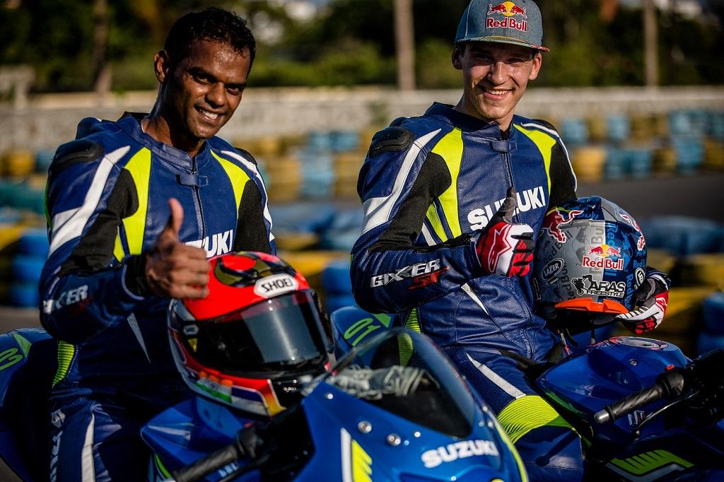 Aras Gibieza and Rajini Krishnan at the Red Bull Road to Rookies Cup_2