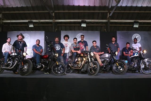 Customized motorclycles at Harley Rock Riders Season VI
