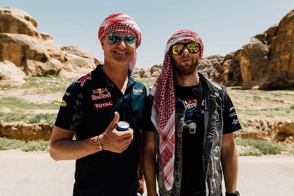 David Coulthard and Rok Bagoros