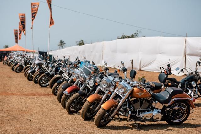 Harley-Davidson motorcycles assembled at 3rd India Bike Week