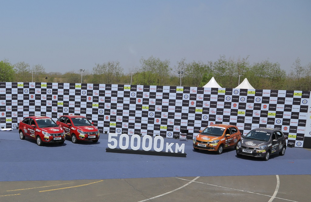 The new generation cars from Tata Motors, post completion of the 50,000 km endurance test, after a gruelling 18-day trial, at VRDe in Ahmednagar.
