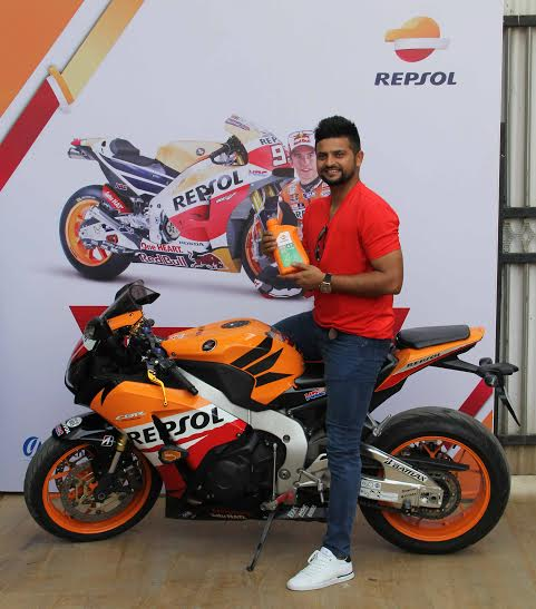 Mr. Suresh Raina, International cricketer at the launch of Repsol by GP Petroleums in India.