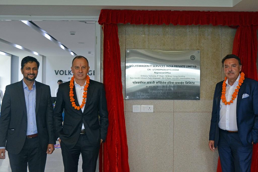 (L to R) Sidharth Yadav, Dr. Martin Hofmann, Uwe Matulovic at the inaugu...