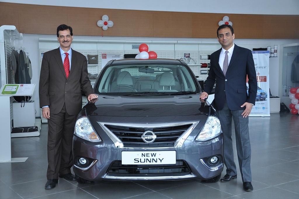 Mr. Arun Malhotra- Managing Director, Nissan Motor India Private Limited and Mr. Siraj Babu Khan, Dealer Principal, Vibrant Nissan