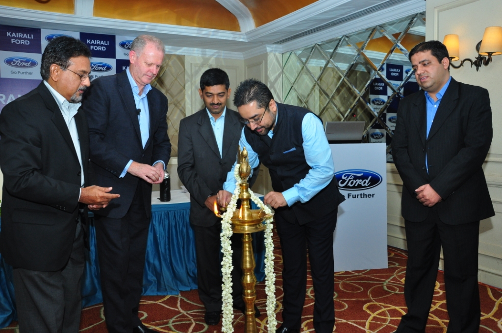 Mr. Thomas Cherukara, Director, Kairali Ford,  Mr. Michael Boneham, President and Managing Director, Ford India, Mr. George Varghes