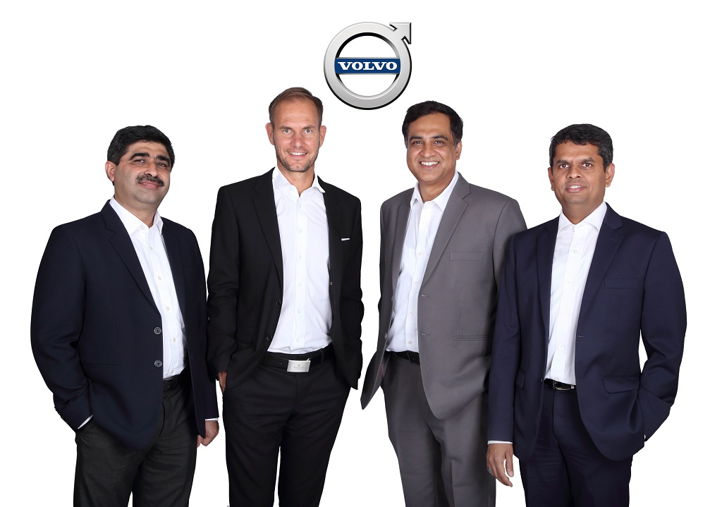 New Team with the Managing Director- Volvo Auto India