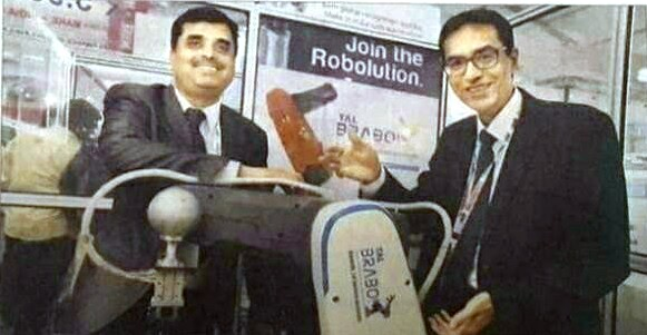 TAL Manufacturing Solutions' COO Amit Bhingurde and CEO Rajesh Khatri wi...