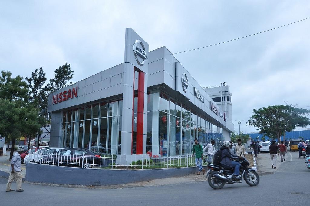 Vibrant Nissan dealership