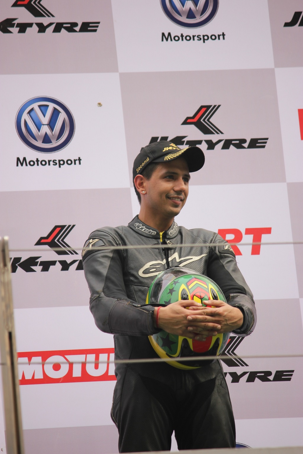 Vijay Singh, Winner of JK Tyres Racing Championship 2015