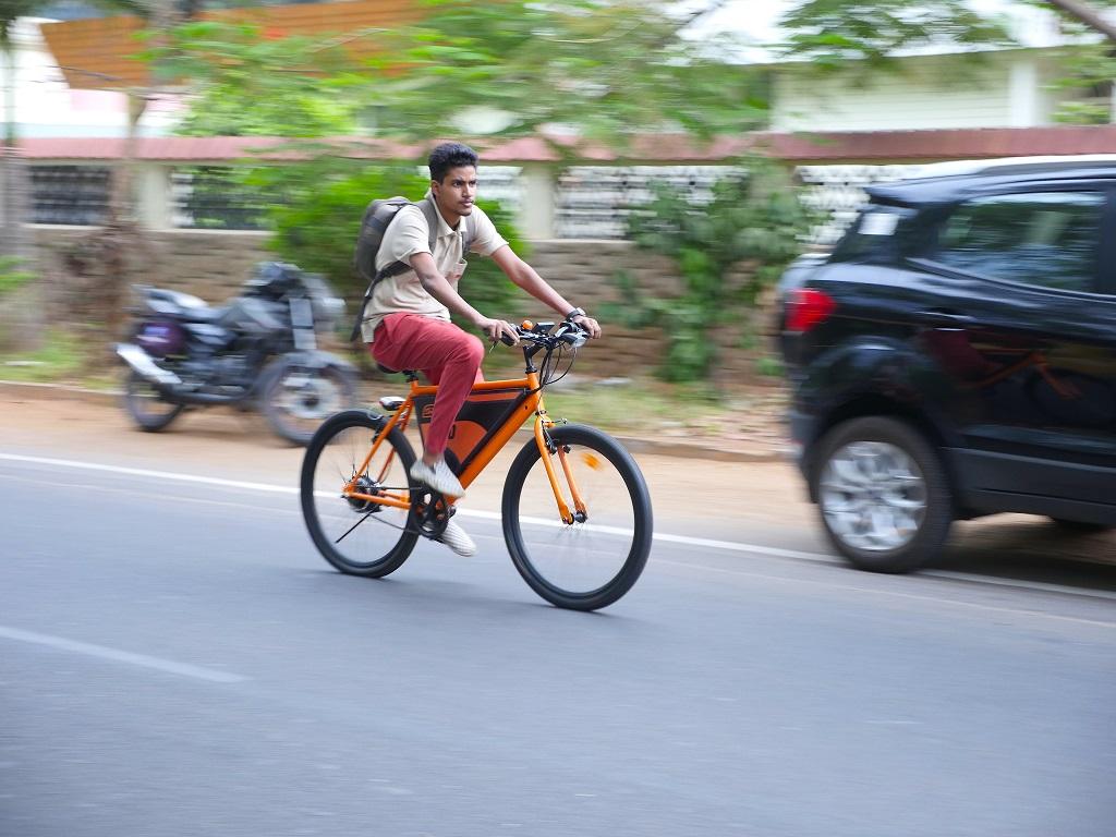 Z-E-Bike -Red _orange version -URban copy
