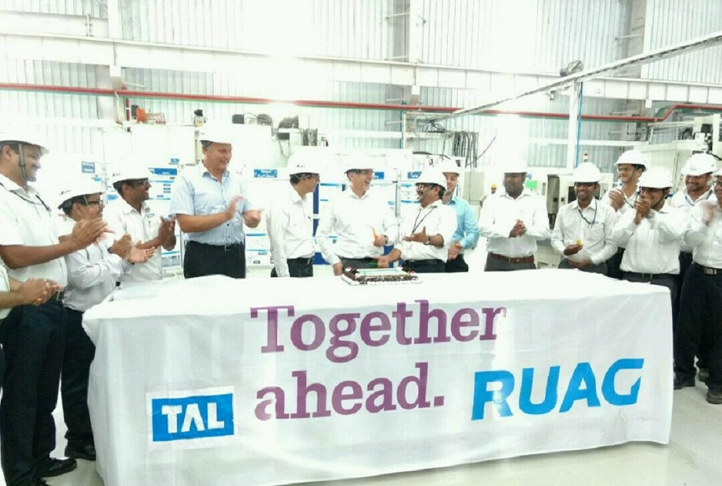 TAL Manufacturing Solutions Ltd. (TAL), a wholly owned subsidiary of Tata Motors, celebrated the inauguration of an all new state-of-the-art Generic Assembly Shop at their manufacturing facility located in MIHAN SEZ, Nagpur. The facility has been built to primarily execute order from the RUAG – TAL contract, and is equipped to manufacture, assemble & supply over 50,000 precision parts and assemblies every month