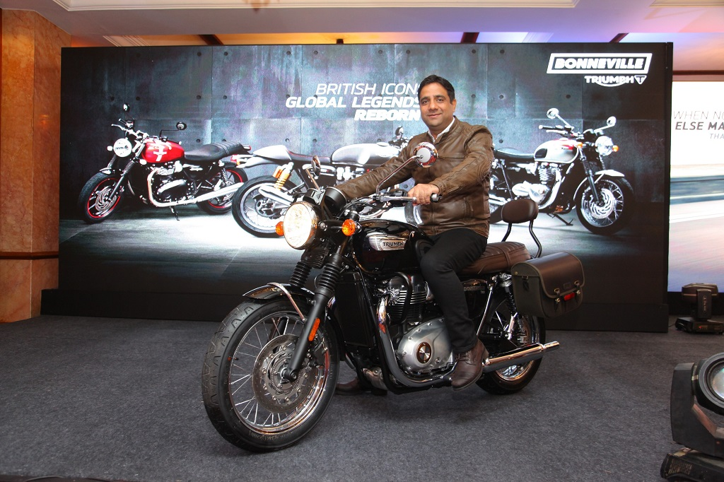 Launch Of The All New Triumph Bonneville T100 By Mr Vimal Sumbly
