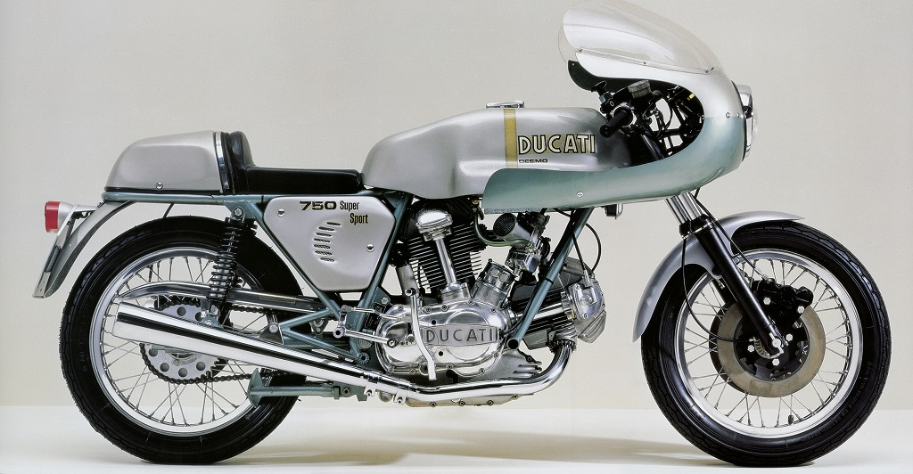 A highlight at the special exhibition: the Ducati 750 Super Sport Desmo