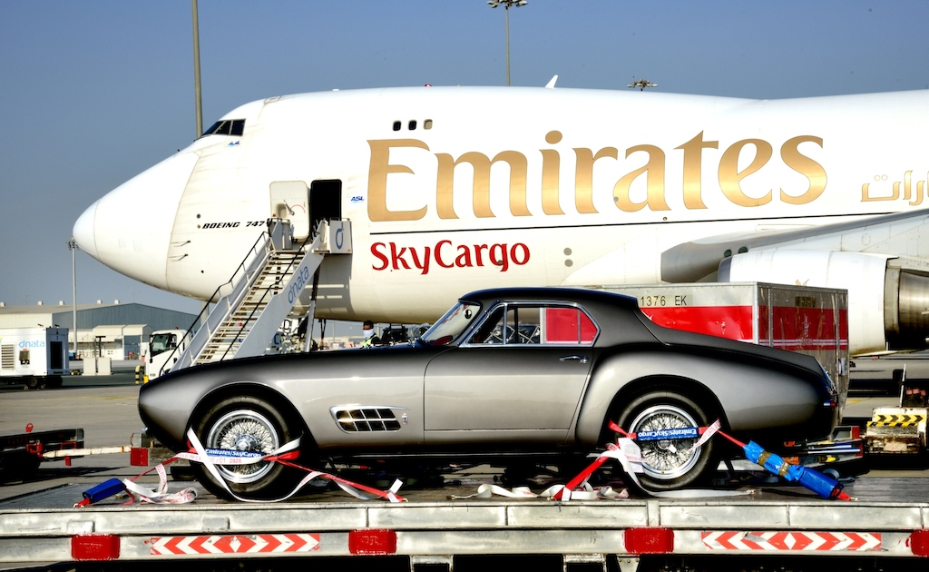 emirates-skycargo-transported-classic-ferraris-for-gulf-concours