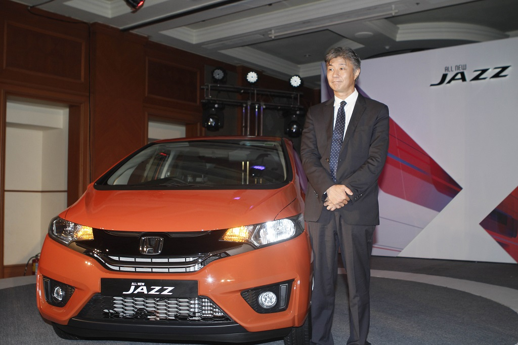 Mr Katsushi Inoue President And Ceo Honda Cars India Ltd At The Launch Of All New 3rd Generation Jazz In Maharashtra Today