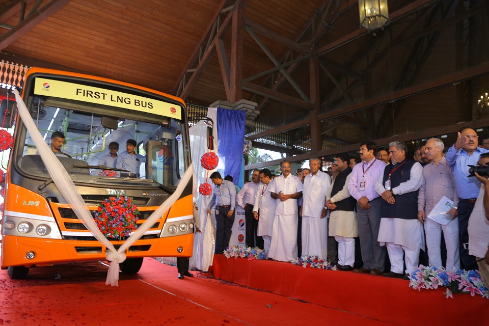 At an event in Kerala, Tata Motors today displayed the country's first LNG bus in the presence of Hon'ble Minister of MoPNG (Ministry of Petroleum and Natural Gas) Shri Dharmendra Pradhan and Hon'ble Chief Minister of Kerala Shri Pinarayi Vijayan