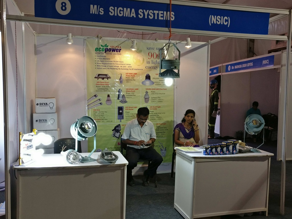 Stall of One of the Exhibitor at Vasai Industrial Expo 2017 - Auto