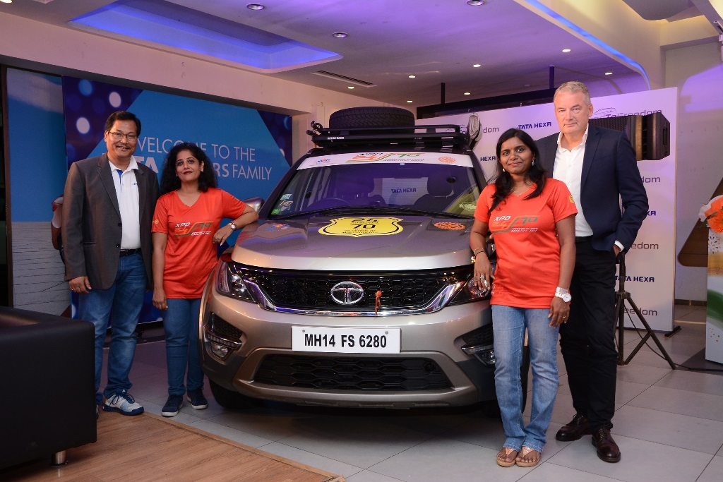 Tata motors presents the tata hexa roadtofreedom drive for Stock price of tata motors