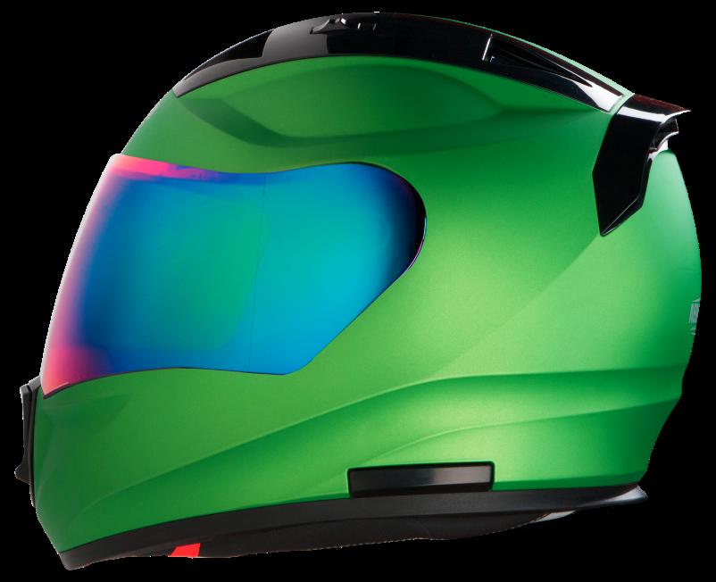 SA-1 Aeronautics Mat Green with Rainbow Chrome Visor